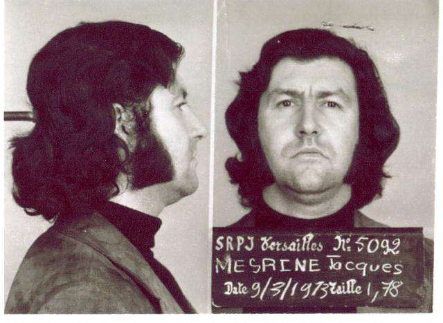 Ζακ Μεσρίν. Booking photo of Mesrine, taken in 1973.