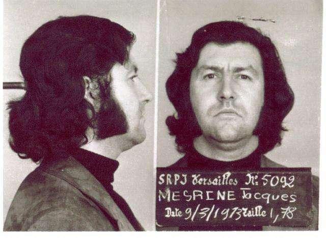Ζακ Μεσρίν. Booking photo of Mesrine, taken in 1973.