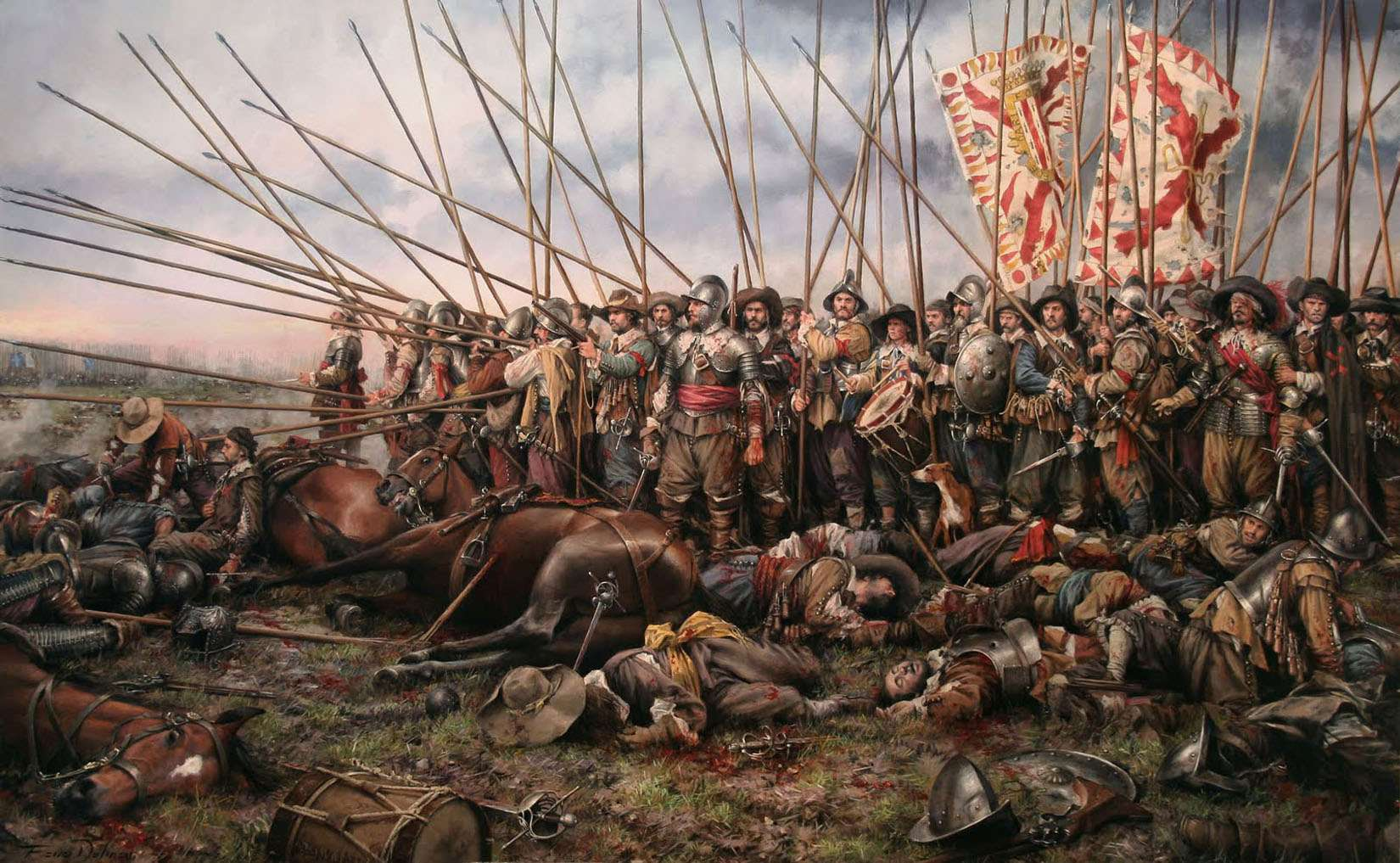 Τριακονταετής Πόλεμος. The Battle of Rocroi (1643), by Augusto Ferrer-Dalmau