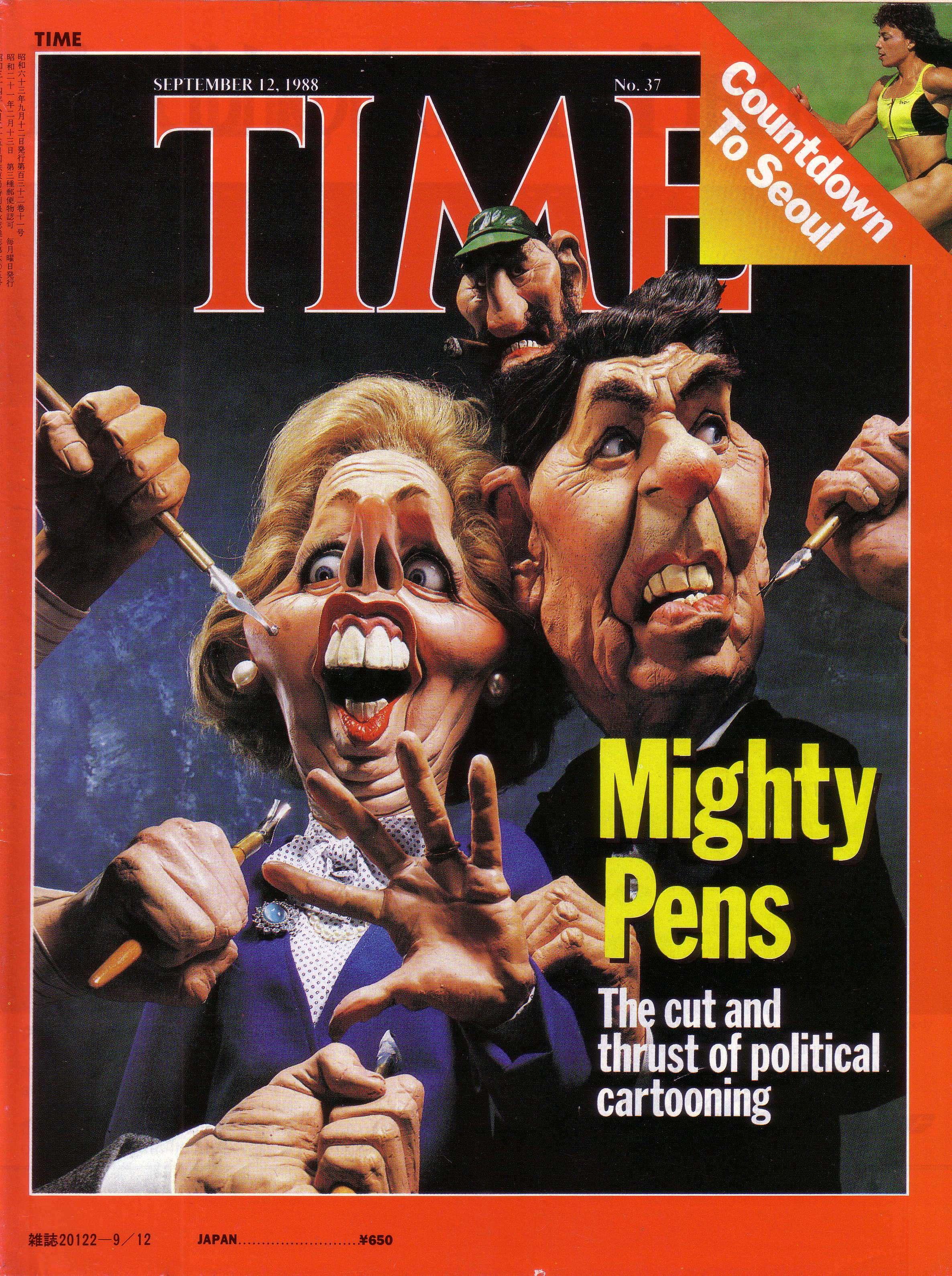 Η Θάτσερ και ο Ρήγκαν. Εξώφυλλο του περιοδικού TIME (1988)