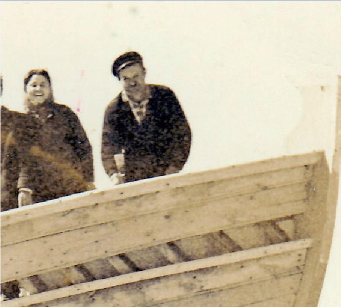 Ο καραβομαραγκός Κωνσταντίνος Παπαστεργιανός τη δεκαετία του ΄60. [Φωτογραφία της Μαρίας Γιαννάκη]