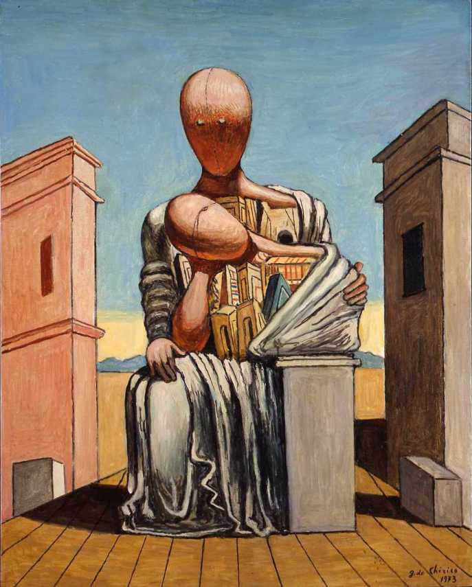 Πίνακας του Τζόρτζο ντε Κίρικο. Giorgio de Chirico (10 Ιουλίου 1888 - 20 Νοεμβρίου 1978.)