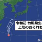 台風3号!2019年の進路予想は?