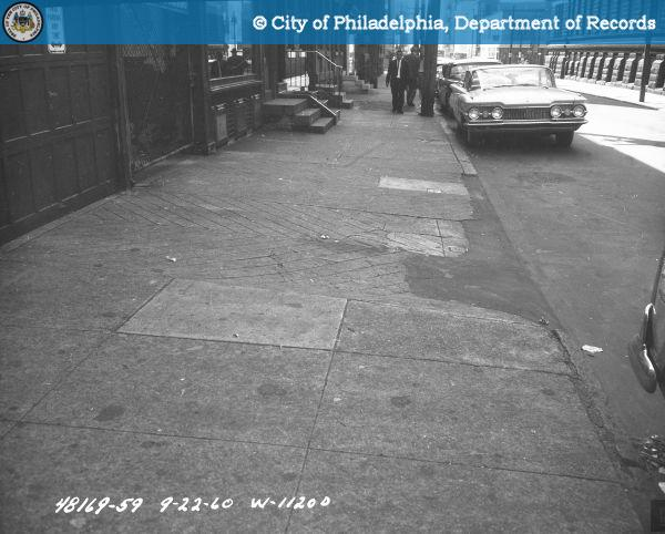Contract #W-1120-D 13th Street - Buttonwood Street to Green Street: South from 537 North 13th Street.