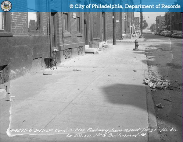 Contract S-2118 Footway From 470 North 7th Street-North To Southwest Corner 7th And Buttonwood Street..