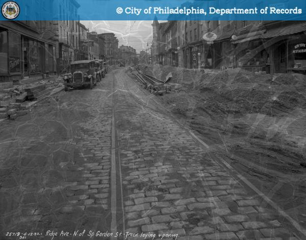 Contract #301 - Track Laying and Paving: Ridge Avenue North of Spring Garden Street.
