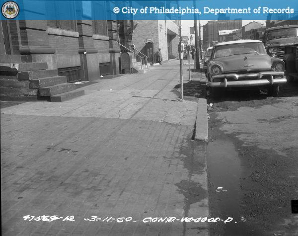 Cont. W-1001-D - Spring Garden Street-North Side - 13th Street to 12th Street: Sidewalk East from 1221 Spring Garden Street.
