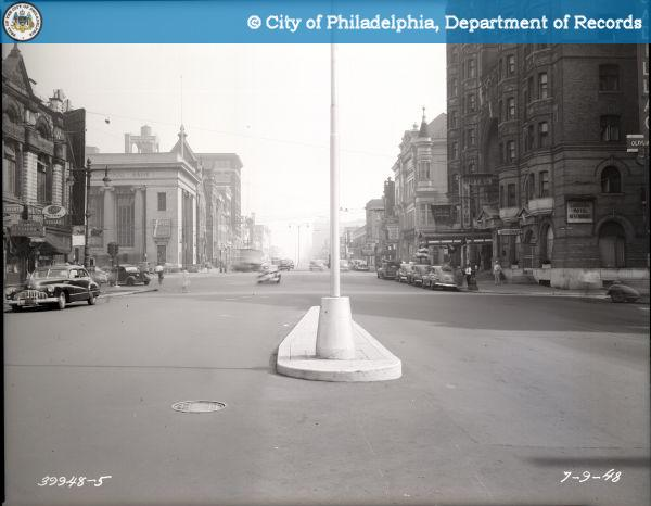 Broad Street - Looking North from Fairmount Avenue and Ridge Avenue