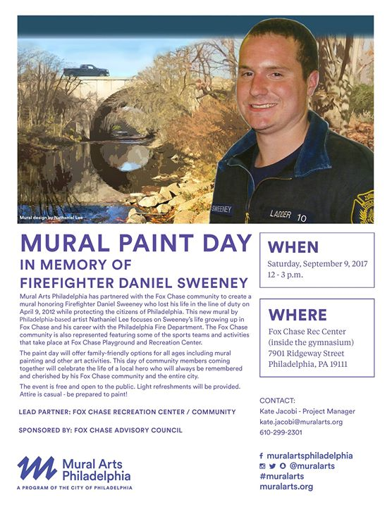 Daniel Sweeney Mural Paint Day