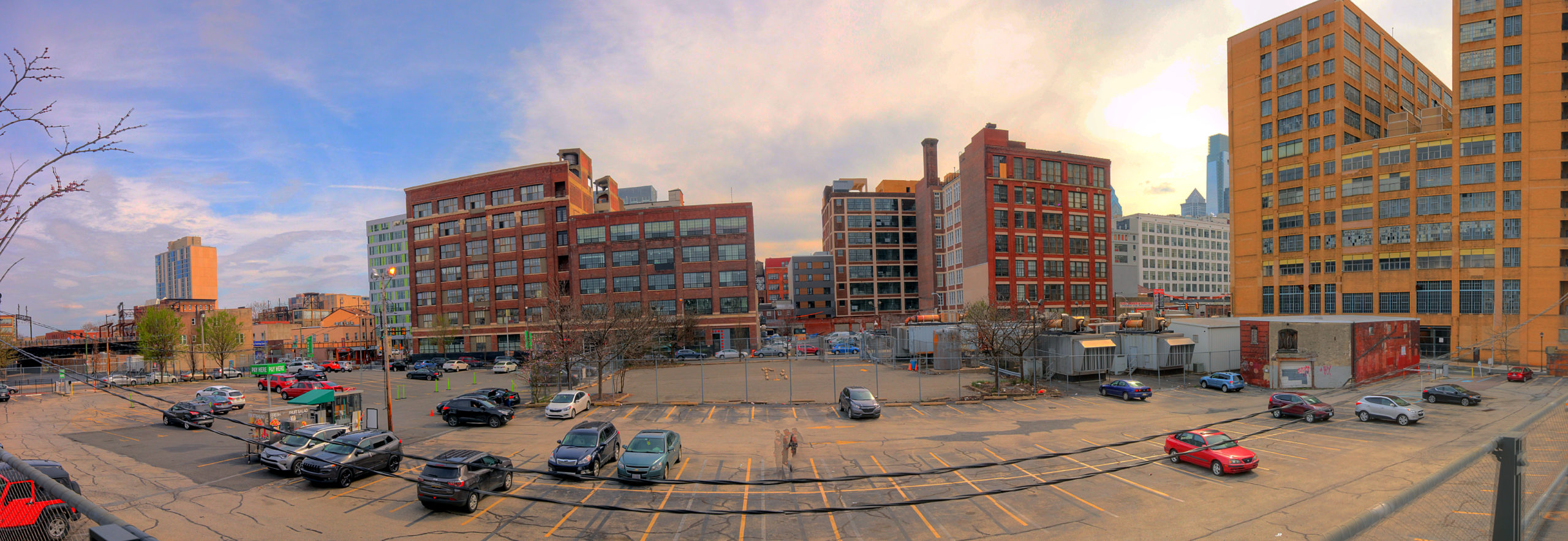 View from the Rail Park, over 13th Street Callowhill District Philadelphia, PA Copyright 2019, Bob Bruhin. All rights reserved.