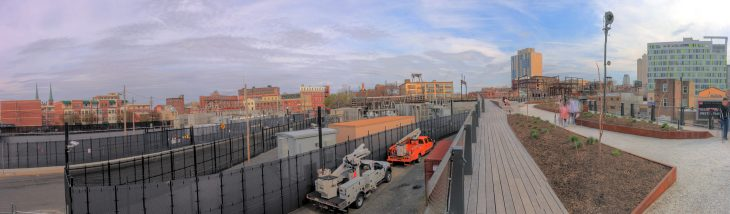 View from the Rail Park, over 12th Street Callowhill District Philadelphia, PA Copyright 2019, Bob Bruhin. All rights reserved.