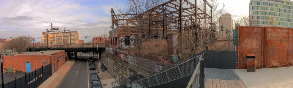 View from the Rail Park, over Callowhill Street Callowhill District Philadelphia, PA Copyright 2019, Bob Bruhin. All rights reserved.