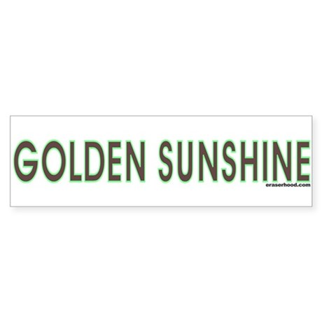 Eraserhood: GOLDEN SUNSHINE Bumper Bumper Sticker