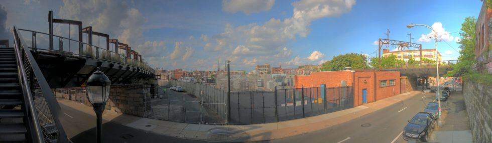 View from The Rail Park 1109 Callowhill Street Philadelphia, PA Copyright 2019, Bob Bruhin. All rights reserved.
