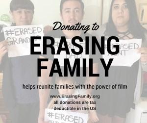 Donating to Erasing Family