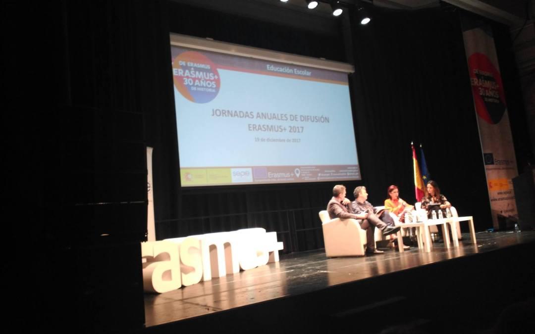 EL IES Aguas Vivas en las Jornadas anuales de difusión Erasmus+