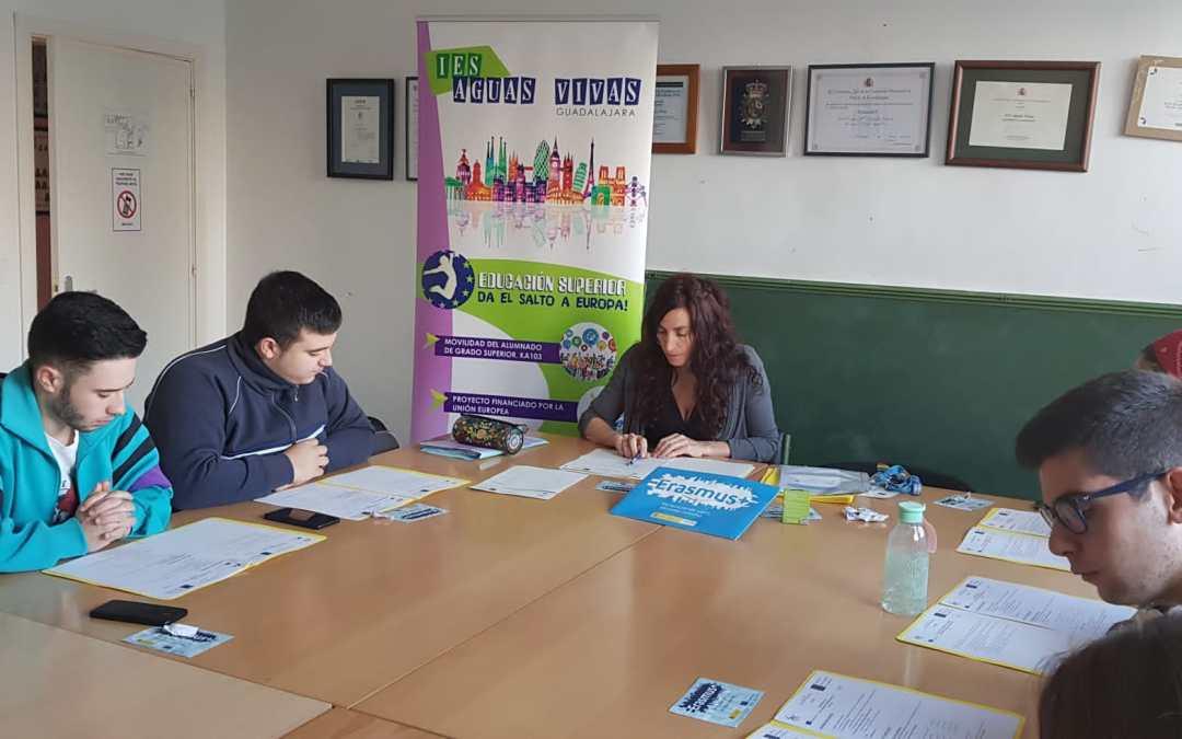 Reunión inicial con el alumnado seleccionado para movilidades de Grado Superior KA103