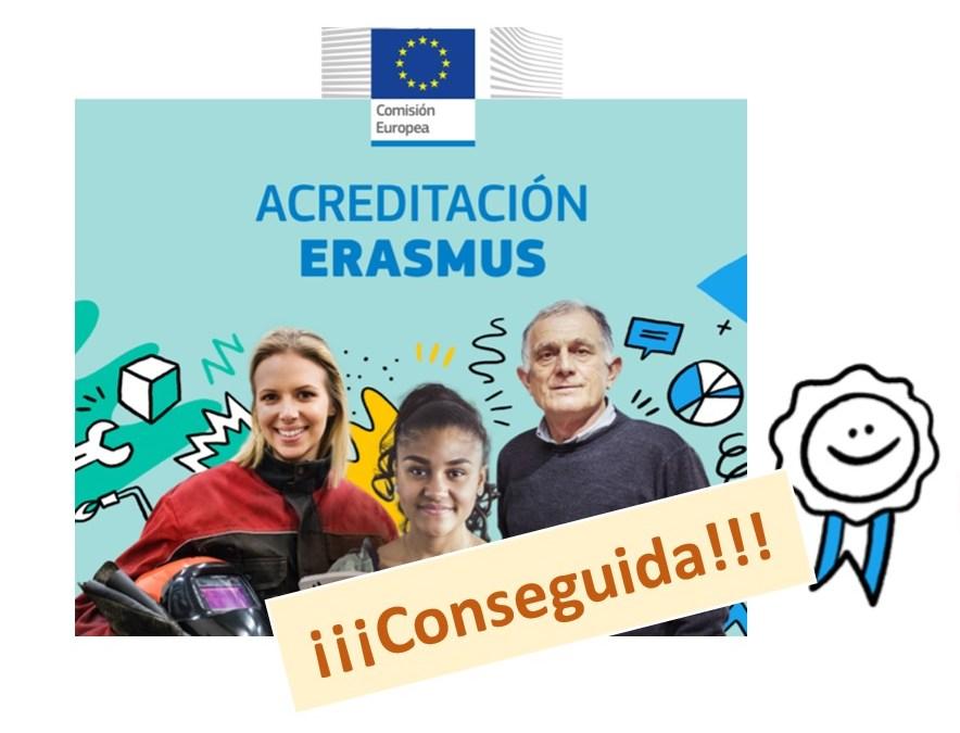 Conseguida la acreditación Erasmus+ 2021-27