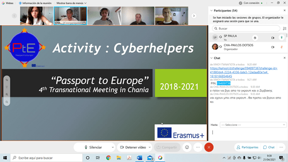 Tercera y última jornada virtual del Proyecto Erasmus Passport to Europe