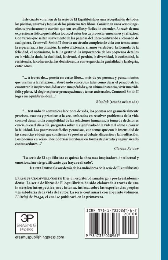 Poesia en Equilibrio CPL (back) | Erasmus Cromwell-Smith