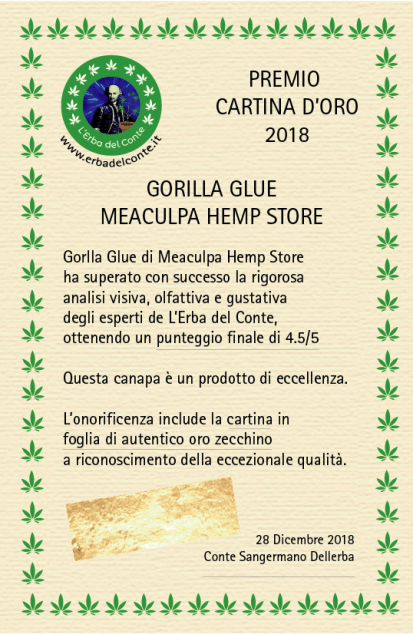 Cartina d'oro Meaculpa Hemp store