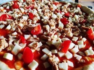 Pizza alla farina di canapa