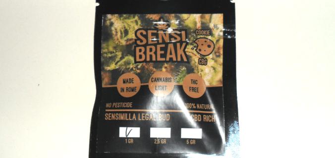 Bustina di canapa legale Sensi Break Cookie di CanapAroma