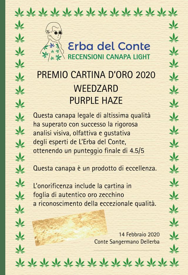 certificato_eccellenza_purplehaze