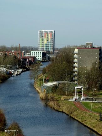 Reitdiep Groningen, vanuit Woldring Locatie