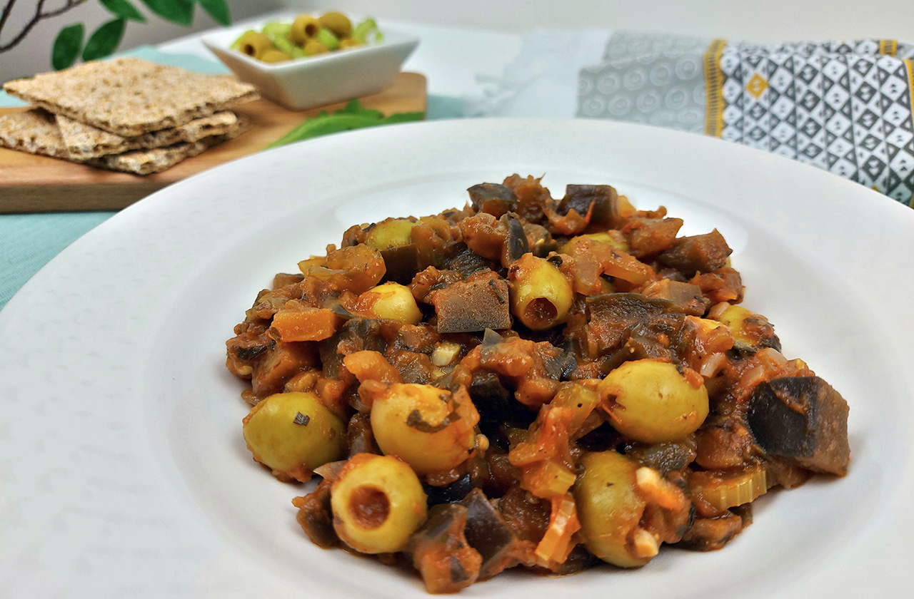 caponata siciliana vegana