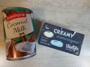 crema de branza vegana violife si crema de cocos