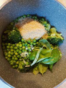 ingrediente supa de mazare si broccoli