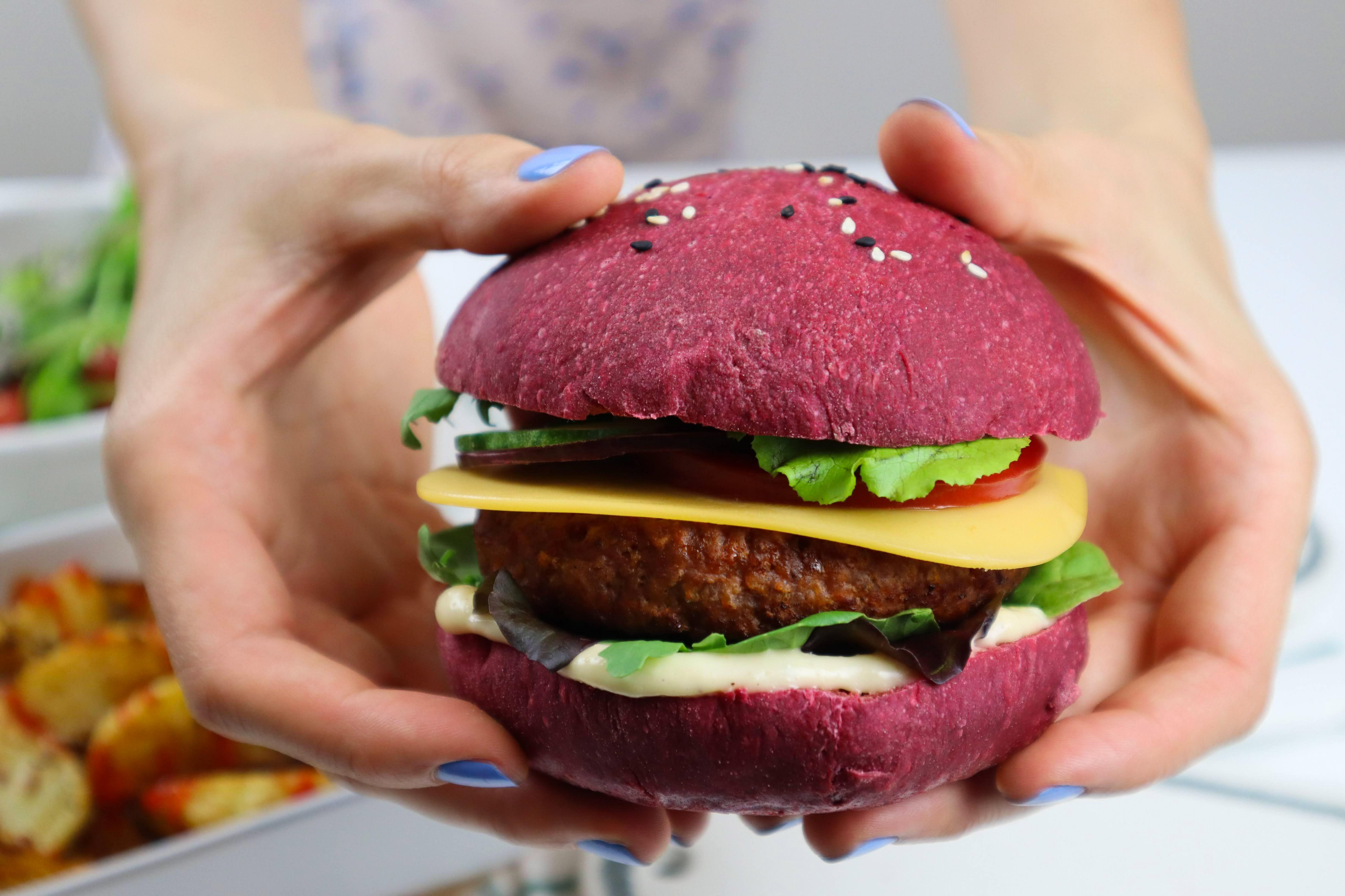 chifla burger vegana roz