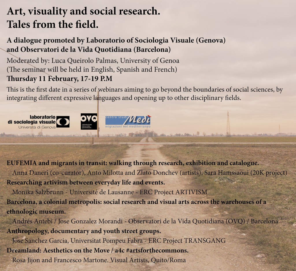 "Seminar ""Art, Visuality and Social Research. Tales from the field"""