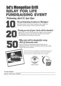 bd's Relay For Life Fundraiser