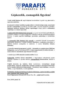 thumbnail of 0124 Gépkezelő és Csomagoló ERCSI hirdetés