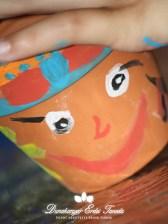 Kézműves foglalkozás Fűfejnek festett cserép Erdei iskola