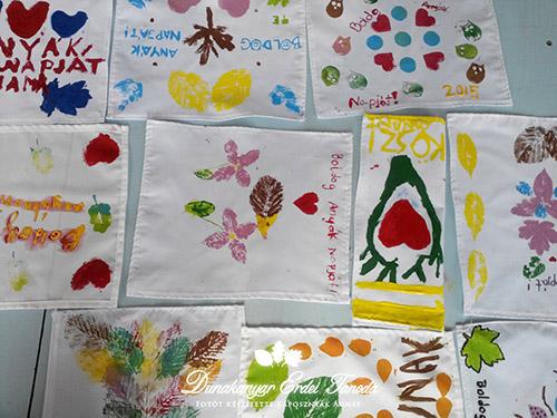 Kézműves foglalkozás Textilfestés Erdei iskola