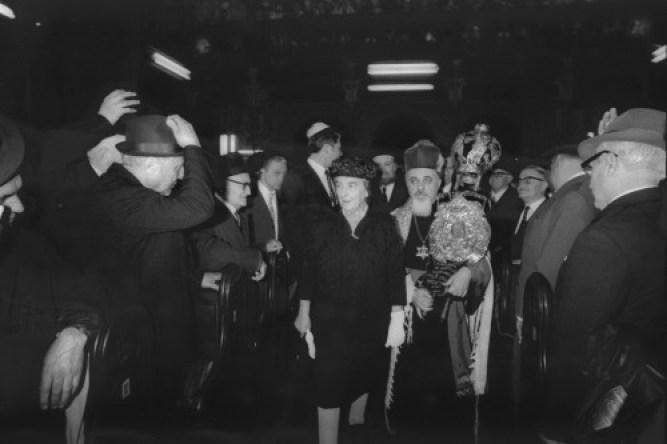 Moses Rosen és Golda Meir Bukarestben
