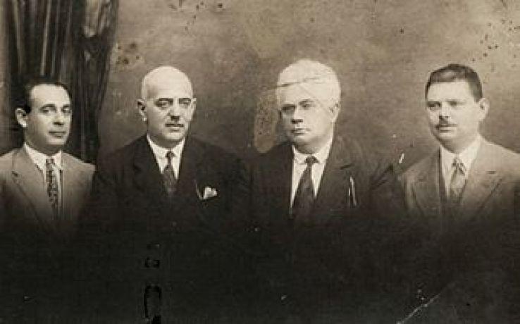 A Zsidó Parlamenti Klub tagjai 1928-ban (balról Michel Landau, Fischer Tivadar, Mayer Ebner, Fischer József)