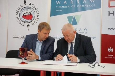 Подписание договора между Варшавской и Смоленской Торгово-Промышленными палатами