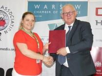Соглашение о сотрудничестве подписали Варшавская торгово-промышленная палата и Республиканская конфедерация предпринимательства Республики Беларусь