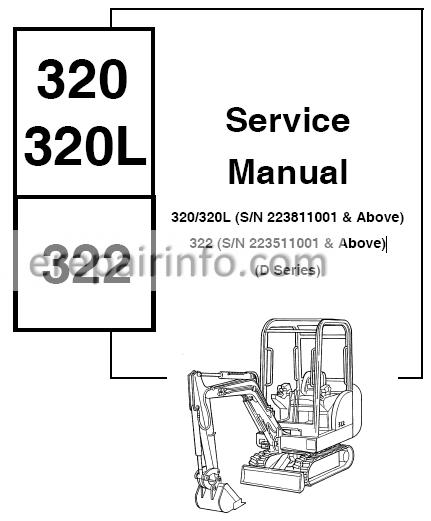 Bobcat 320, 320L, 322 Service Repair Manual Hydraulic Excavator 6901062 2-06