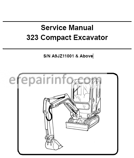 Bobcat 323 Service Repair Manual Compact Excavator 6986958