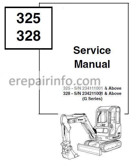 Bobcat 325 328 Service Repair Manual Excavator 6902745 10