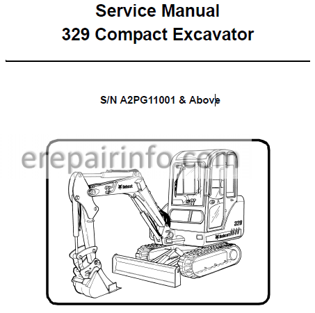 Bobcat 329 Service Repair Manual Compact Excavator 6904771