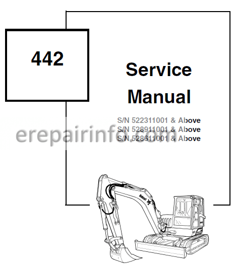 Bobcat 442 Service Repair Manual Excavator 6901801 5-10
