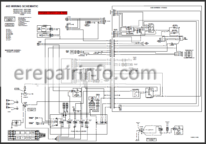 bobcat mower wiring diagrams bobcat 463 service repair manual skid steer loader 6901812 3 06  repair manual skid steer loader