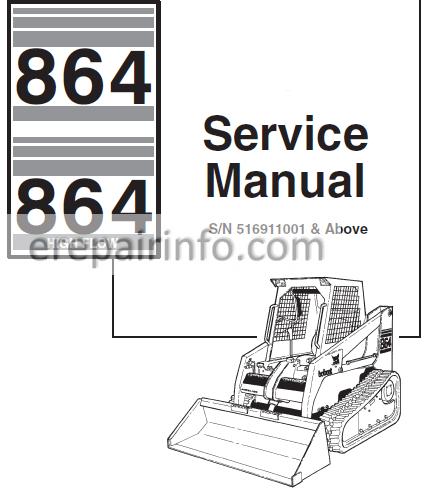 bobcat 864 wiring diagram bobcat 846 service repair manual skid steer loader 6900627 7 10  repair manual skid steer loader