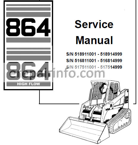bobcat 864 wiring diagram bobcat 864 service repair manual skid steer loader 6900945 7 10  repair manual skid steer loader